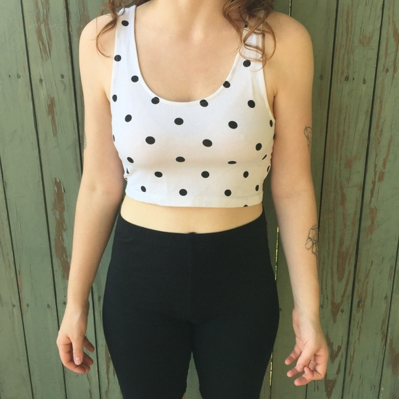 H&M Tops - 3 FOR $10 Cropped Polka Dot Tank Top